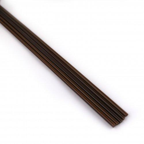 【CX192】ガラスロッド(茶色アルカリシリケートガラス)100g