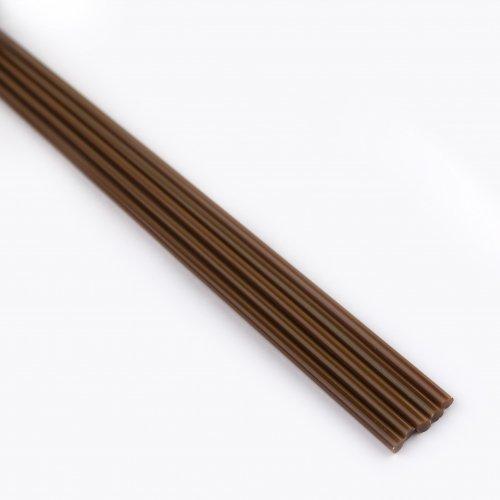 【CX194】ガラスロッド(茶色アルカリシリケートガラス)100g