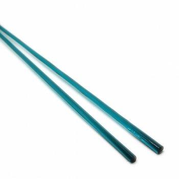 ハーフサイズ【A59】ガラスロッド(透明青緑クリスタル(鉛)ガラス)100g