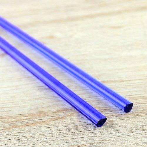 【CX200】ガラスロッド(クリア薄紺アルカリシリケートガラス)100g