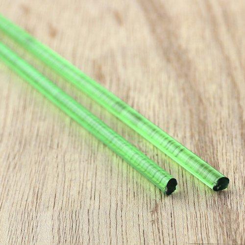 【CX209】ガラスロッド(クリア極薄緑アルカリシリケートガラス)100g