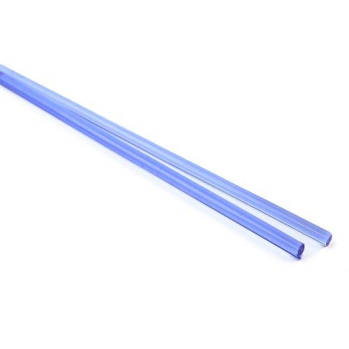 ハーフサイズ【CX127】ガラスロッド(クリア紺アルカリシリケートガラス)100g