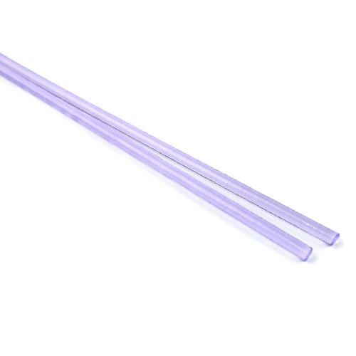 ハーフサイズ【CX144】ガラスロッド(クリア薄紫アルカリシリケートガラス)100g