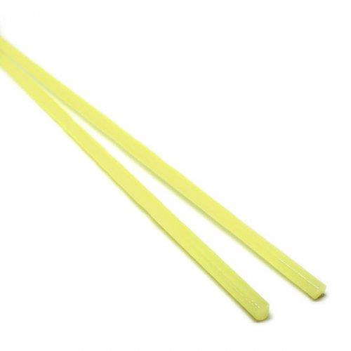 ハーフサイズ【CX150】ガラスロッド(乳白黄色アルカリシリケートガラス)100g