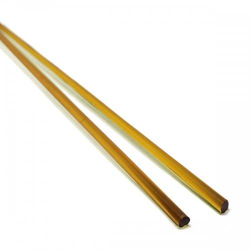 ハーフサイズ【B13】ガラスロッド(透明濃黄色ソーダガラス)100g