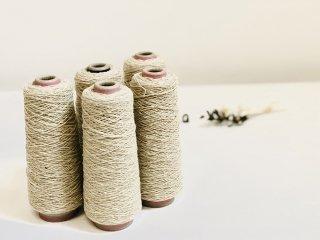 尾州の織糸 ウール糸 バニラネップ #500 太さ1/3.8 100g 織り糸 編み物 縫製 手縫い 素材 グラン オリジナル g3820-500