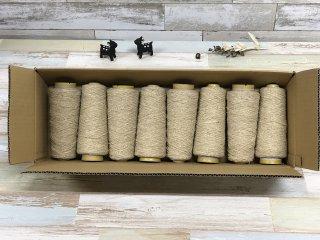 尾州の織糸 ウール糸8本セット バニラネップ #500 太さ1/3.8 100g 織り糸 編み物 縫製 手縫い 素材 グラン オリジナル g3820-500-8