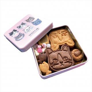 顔猫クッキー缶:中サイズ