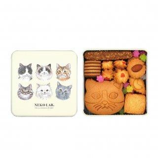 猫クッキー缶|中缶 (猫クッキー:プレーン)