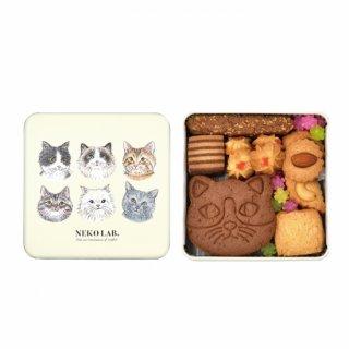 猫クッキー缶|中缶 (猫クッキー:ココア)