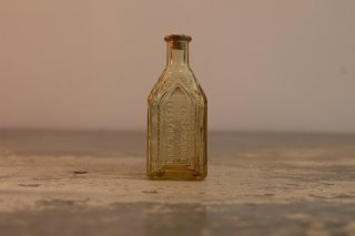 VINTAGE GLASS MINI BOTTLE CATHEDRAL BRAND