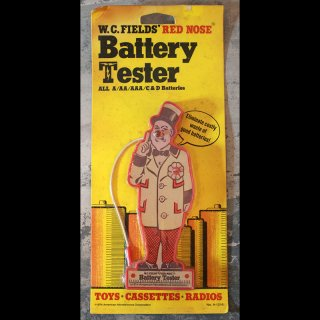VINTAGE BATTERY TESTER W.C.FIELD'S RED NOSE NOS