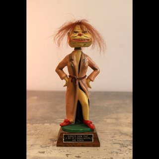 VINTAGE BOBBLE HEAD HATE WOMAN  1960's