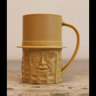 VINTAGE Mr.PEANUT PLASTIC CUP BEIGE 1960's