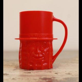 VINTAGE Mr.PEANUT PLASTIC CUP RED 1960's
