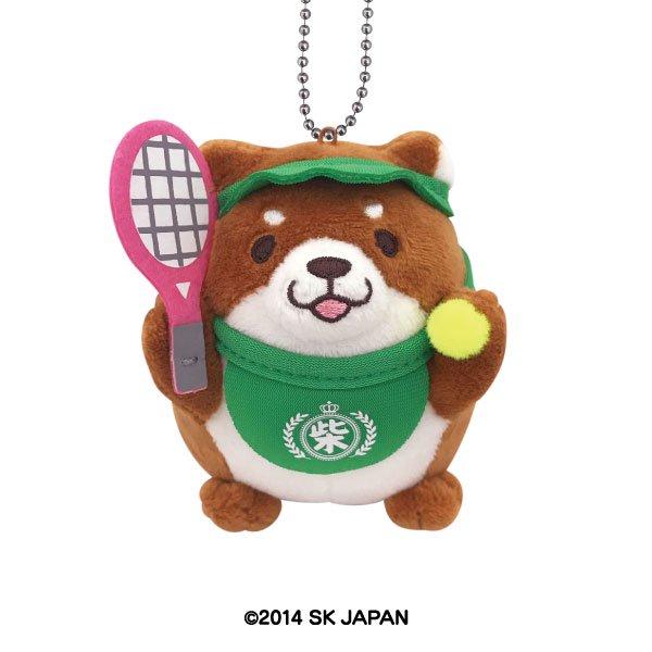 忠犬もちしば ぬいぐるみ ボールチェーン【テニス】(おかか)