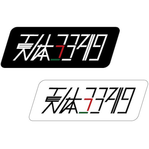 天体3349ロゴステッカー 小 ( 110mm x 38mm )