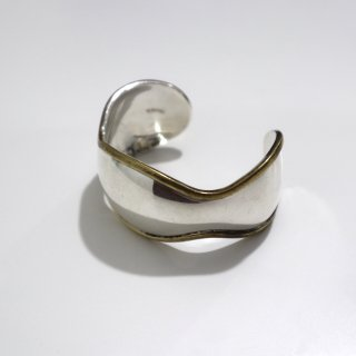 Mexican Silver & Brass Modern Bangle