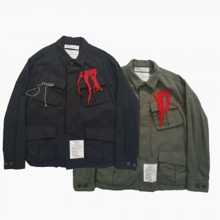 <img class='new_mark_img1' src='https://img.shop-pro.jp/img/new/icons21.gif' style='border:none;display:inline;margin:0px;padding:0px;width:auto;' />Wool Ripstop Fatigue Jacket