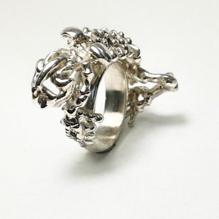 Skeleton frog ring