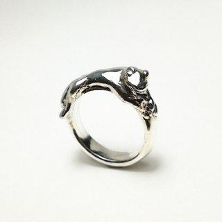 Lizard pink ring