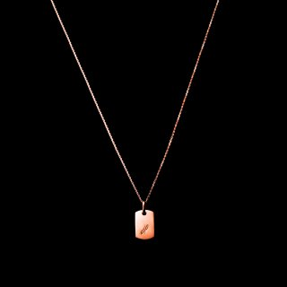「MINITAG」 Necklace SV925 PinkGoldCoating