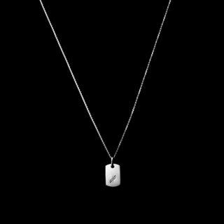 「MINITAG」 Necklace SV925 RodiumCoating