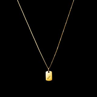 「MINITAG」 Necklace K18YG