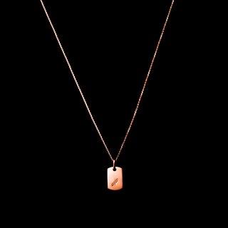 「MINITAG」 Necklace K18PG