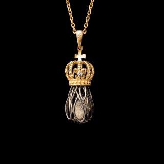 「LOS REYES」Necklace SV925 Gold×Black