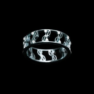 「ETERNITY CZ」Ring  SV925 Rodium Coating