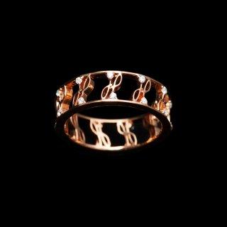 「ETERNITY CZ」Ring  SV925 Pinkgold Coating