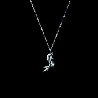 「MINI MERMAID」Necklace SV925 Rodium Coating