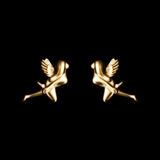 「MINI FAIRY」Pierce SV925 Gold Coating