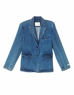 [30%OFF] Single-breasted denim jacket
