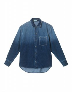 [30%OFF] Oversize washed-denim shirt