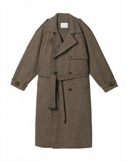 [30%OFF] Wool-blend trench coat