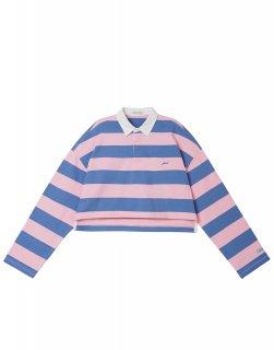 [韓国発送] 21SS Cropped striped polo shirt