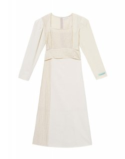 [韓国発送] 21SS Belted check mix dress