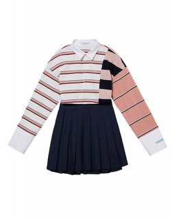 [韓国発送] 21SS Striped polo mini dress