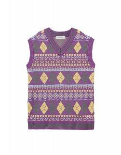 [韓国発送] 21SS Jacquard knited vest