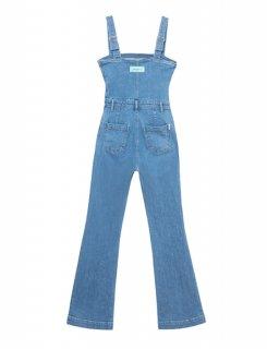[韓国発送] 21SS Square-neck denim jumpsuit