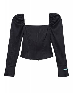 [20%OFF][韓国発送] 21SS Square-neck puff-sleeve blouse