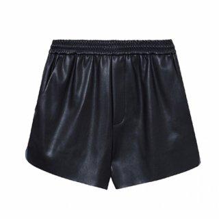 [韓国発送] 21SS Elasticated-waist faux-leather shorts