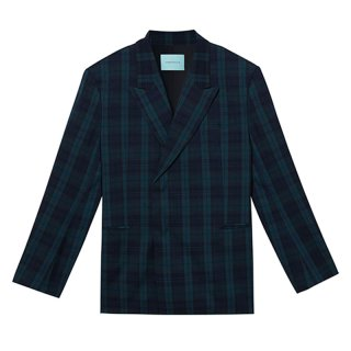 [韓国発送] 21SS Ms Double-breasted check jacket