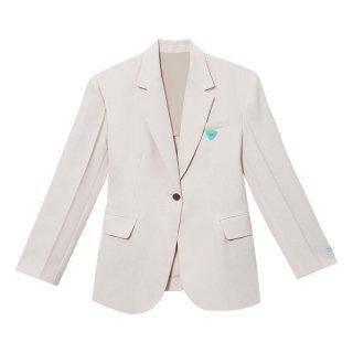 [韓国発送]  21SS Padded-shoulder single-breasted jacket
