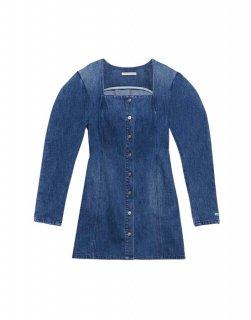 [韓国発送] 21FW Square-neck denim mini dress