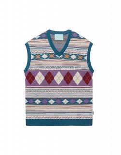 [韓国発送] 21FW Jacquard wool-blend knited vest