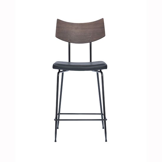 【SQUARE ROOTS】SOLI COUNTER STOOL/SEARED OAK BLACK LEATHER