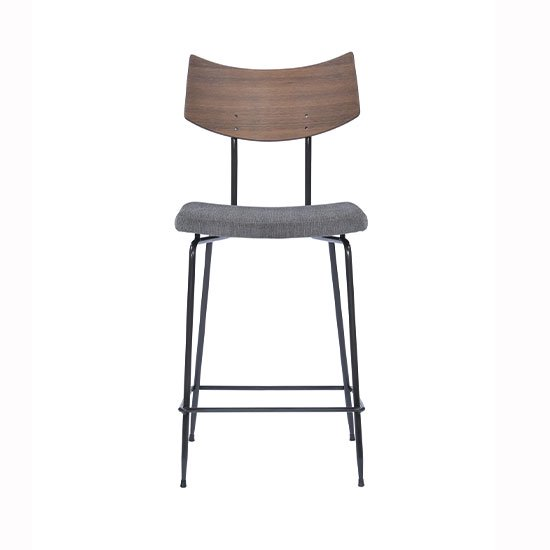 【SQUARE ROOTS】SOLI COUNTER STOOL /SEARED OAK GRAY FABRIC